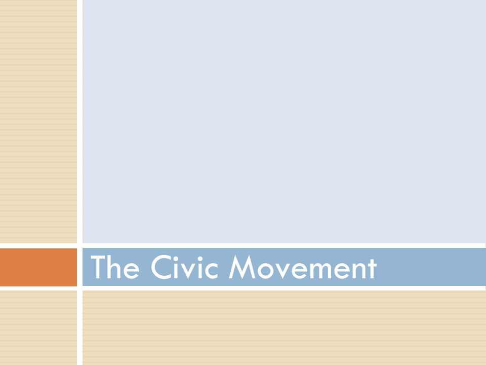 The Civic Movement