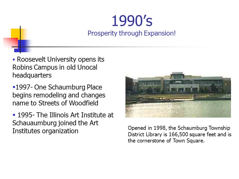 1990's Prosperity through Expansion.
