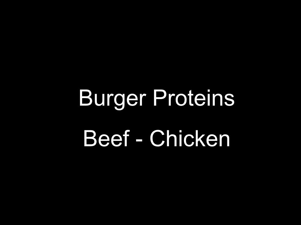 Burger Proteins Beef - Chicken