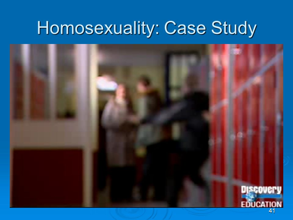 41 Homosexuality: Case Study