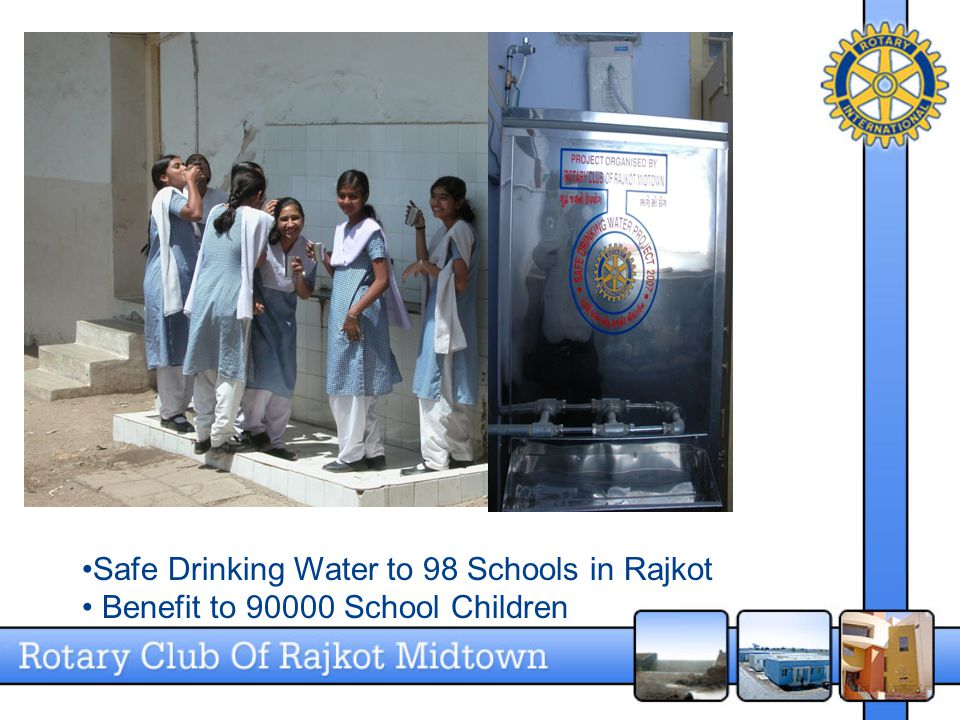 Safe Drinking Water to 98 Schools in Rajkot Benefit to 90000 School Children