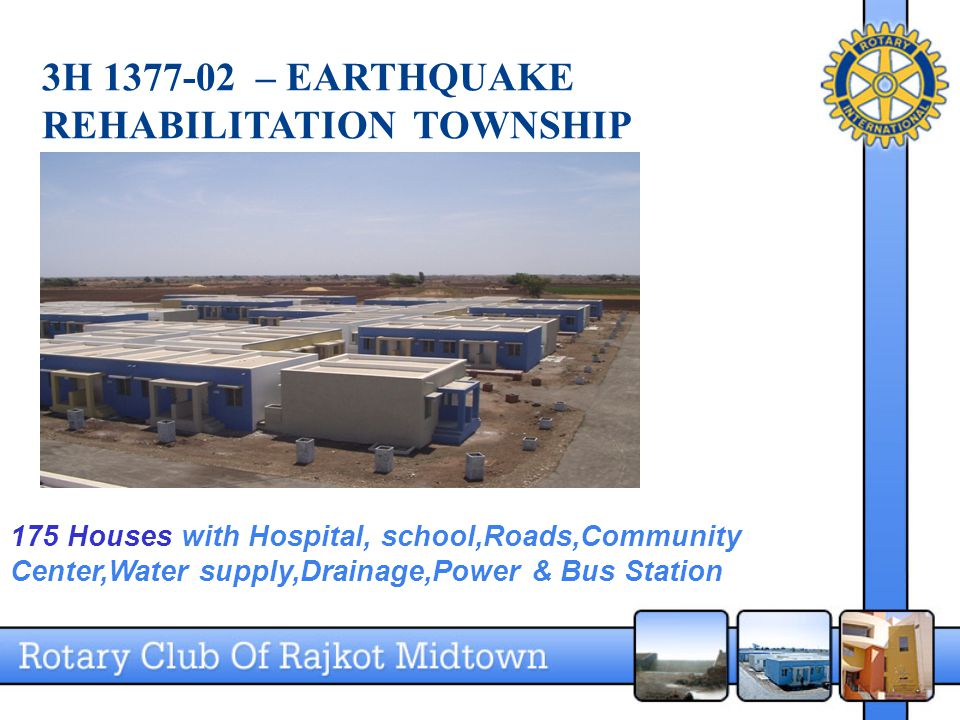 3H 1377-02 – EARTHQUAKE REHABILITATION TOWNSHIP 175 Houses with Hospital, school,Roads,Community Center,Water supply,Drainage,Power & Bus Station