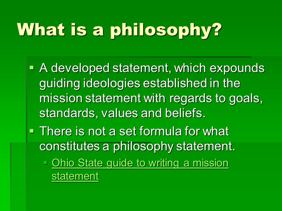 Mission Philosophy Goals Objectives