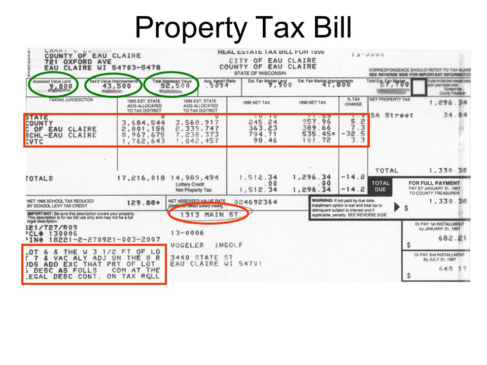 Property Tax Bill