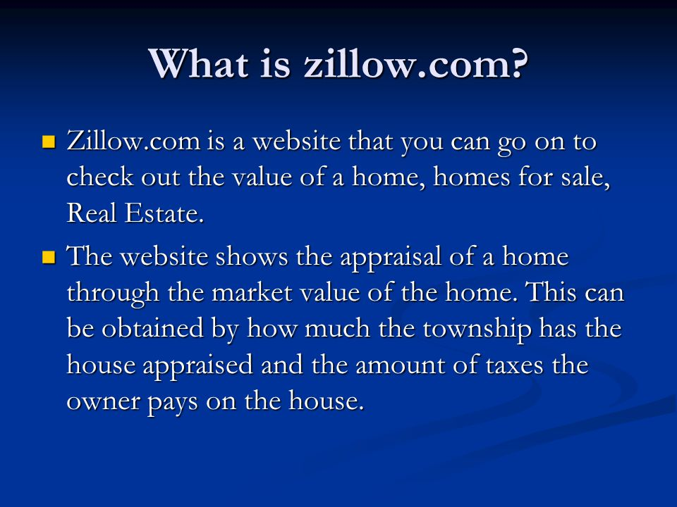 What zillow.com offers.