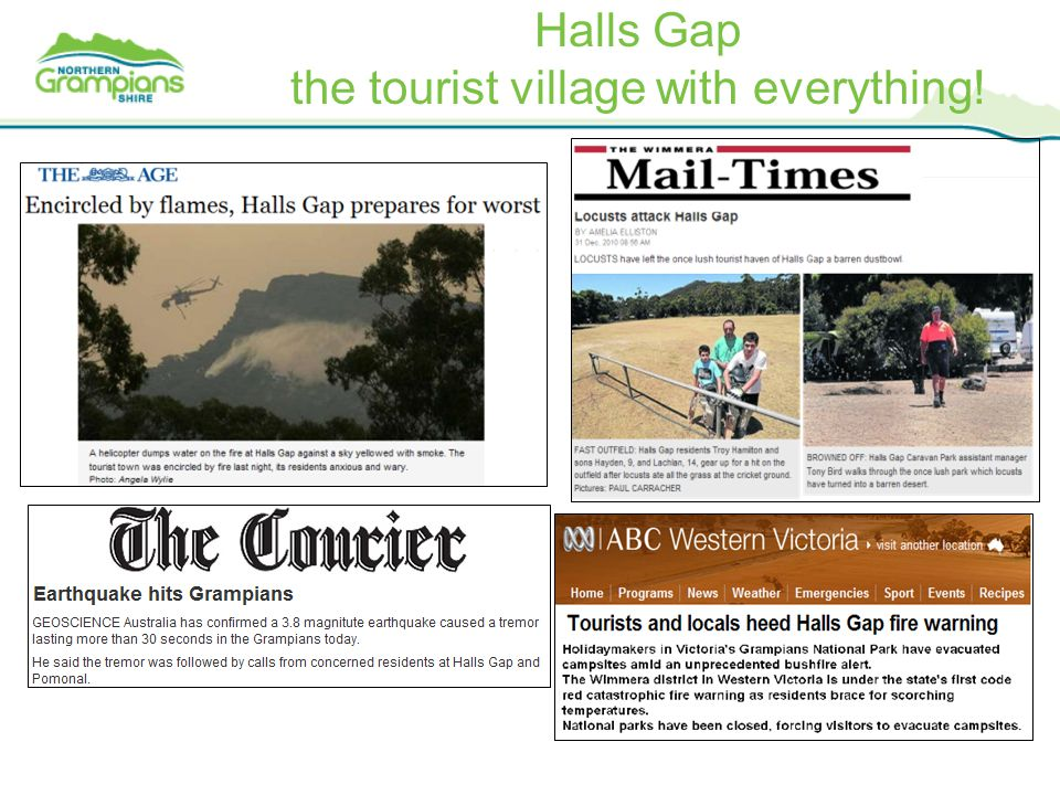 Halls Gap the tourist village with everything!