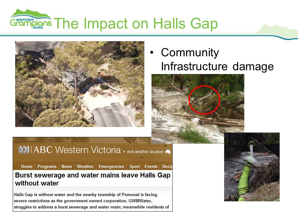 The Impact on Halls Gap Community Infrastructure damage