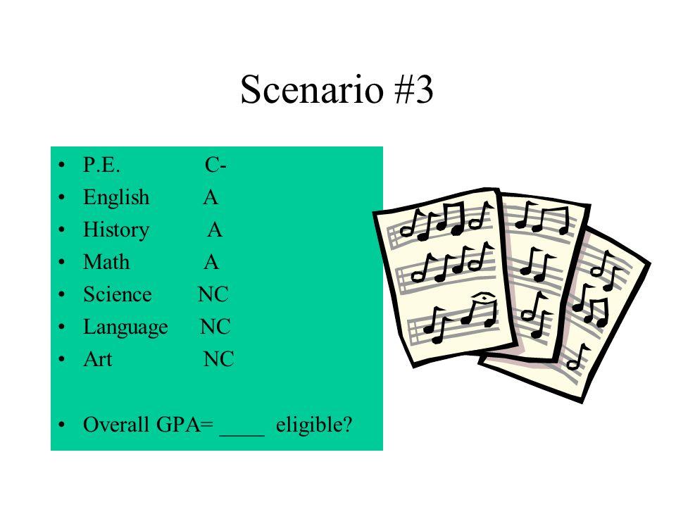 Scenario #3 P.E.