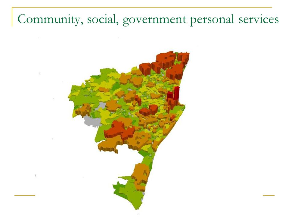 Community, social, government personal services