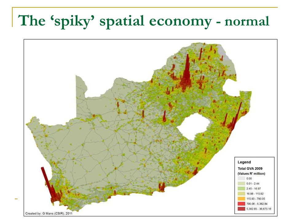 The 'spiky' spatial economy - normal