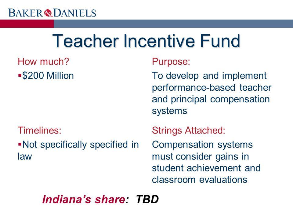 Teacher Incentive Fund How much.