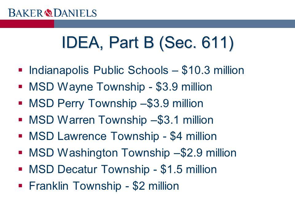 IDEA, Part B (Sec.