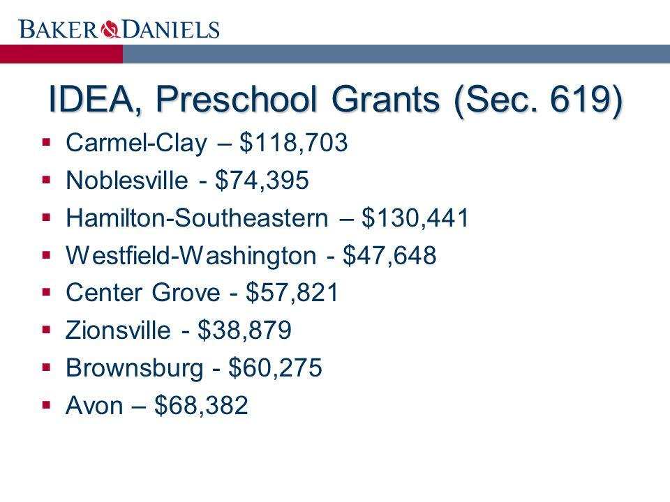 IDEA, Preschool Grants (Sec.