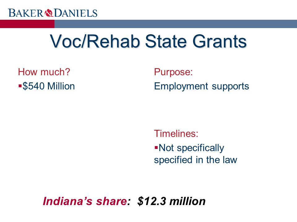Voc/Rehab State Grants How much.