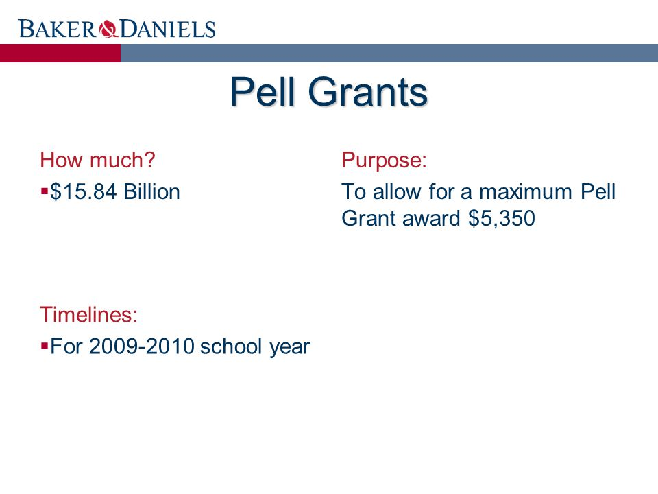 Pell Grants How much.