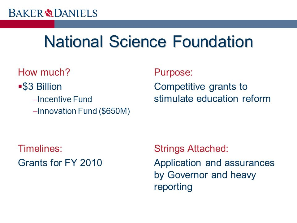 National Science Foundation How much.