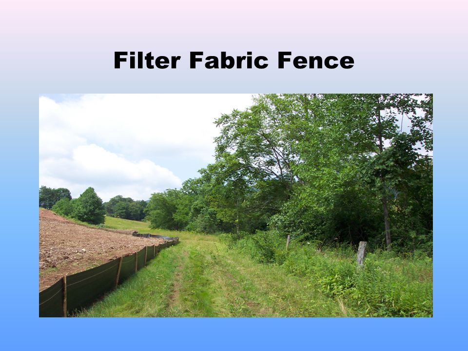 Filter Fabric Fence