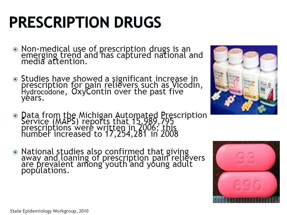  Non-medical use of prescription drugs is an emerging trend and has captured national and media attention.