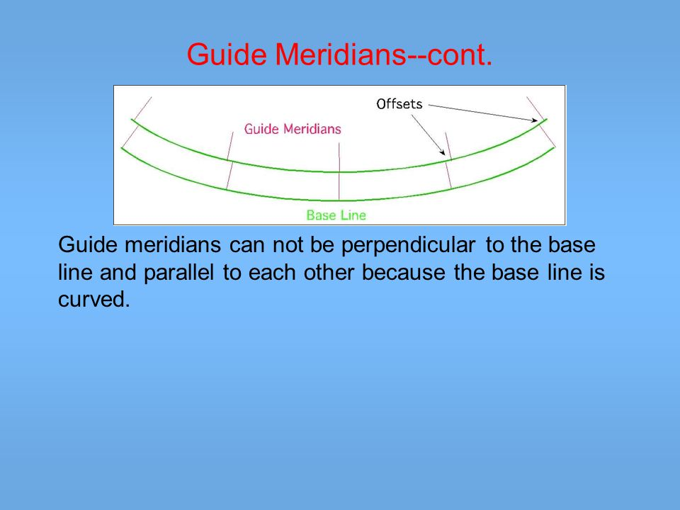 Township A pair of standard parallels and a pair of guide meridians forms a quadrangle.