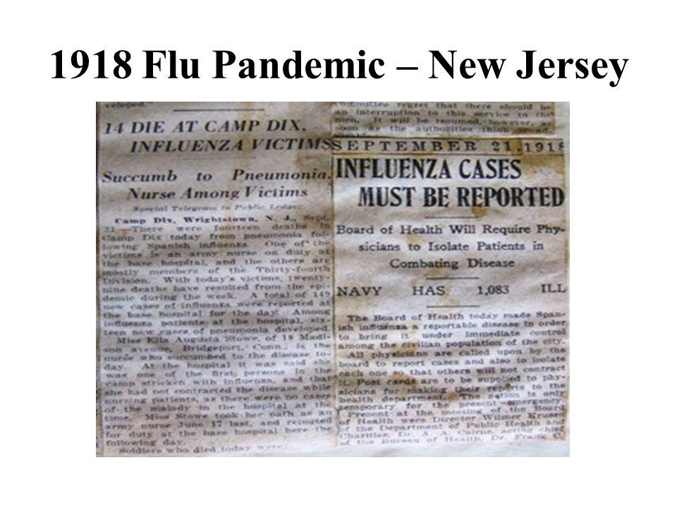 1918 Flu Pandemic – New Jersey