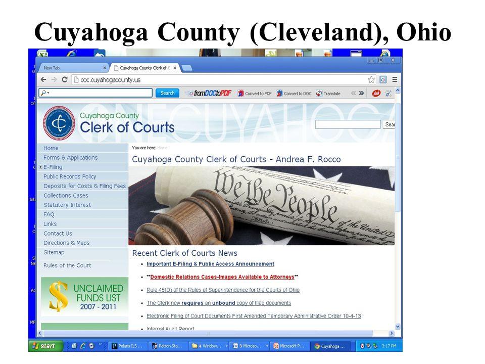 Cuyahoga County (Cleveland), Ohio