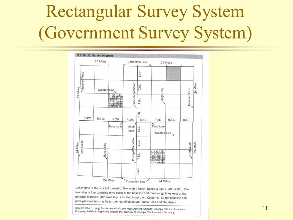 11 Rectangular Survey System (Government Survey System)