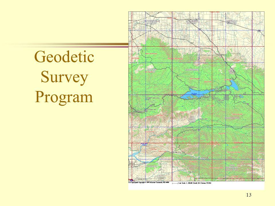 13 Geodetic Survey Program