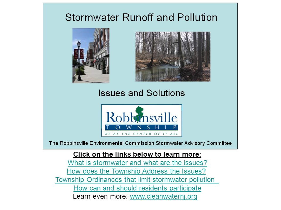 What is stormwater Water from rain and melting snow that flows over lawns, parking lots, streets and farm fields is known as stormwater.