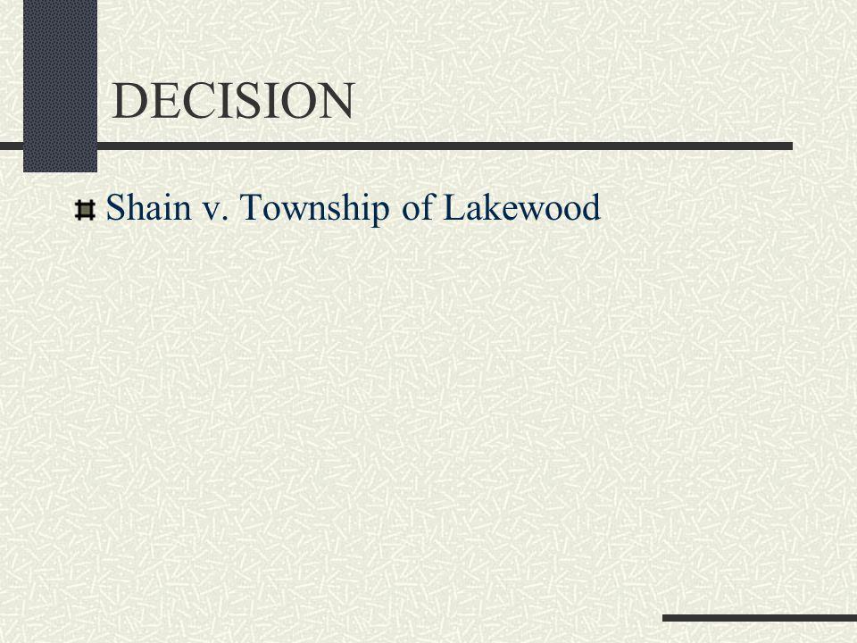 DECISION Shain v. Township of Lakewood