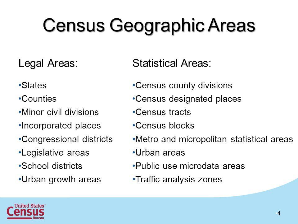 25 Census Bureau Geographic Products