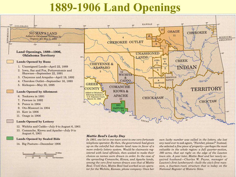 1889-1906 Land Openings