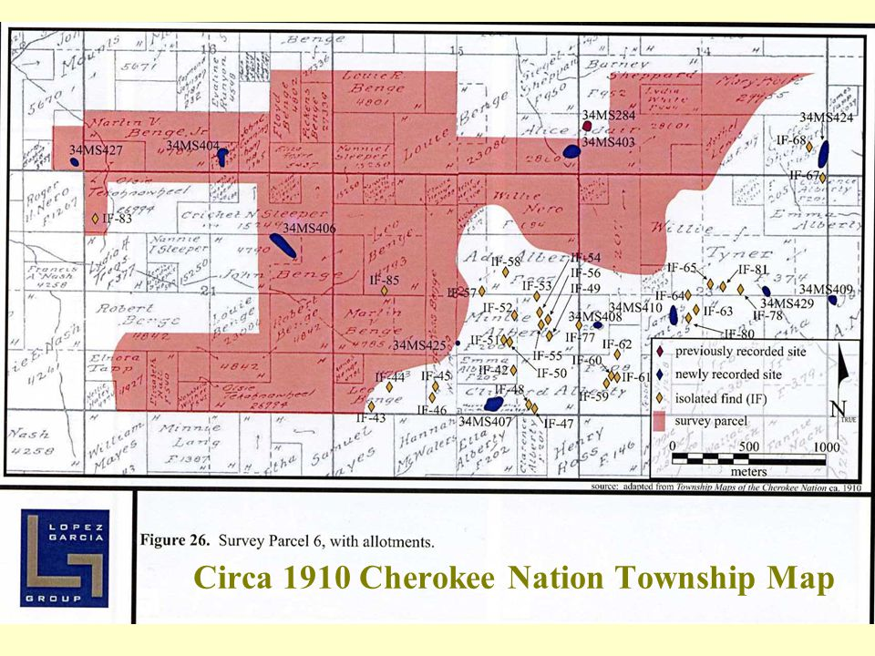 Circa 1910 Cherokee Nation Township Map