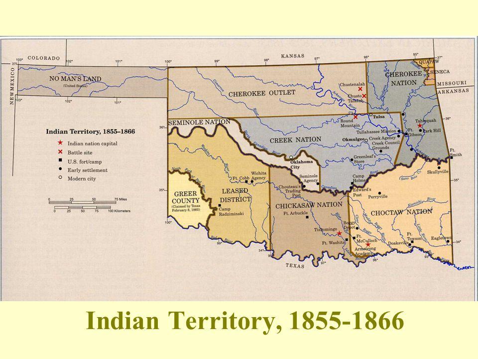 Indian Territory, 1855-1866