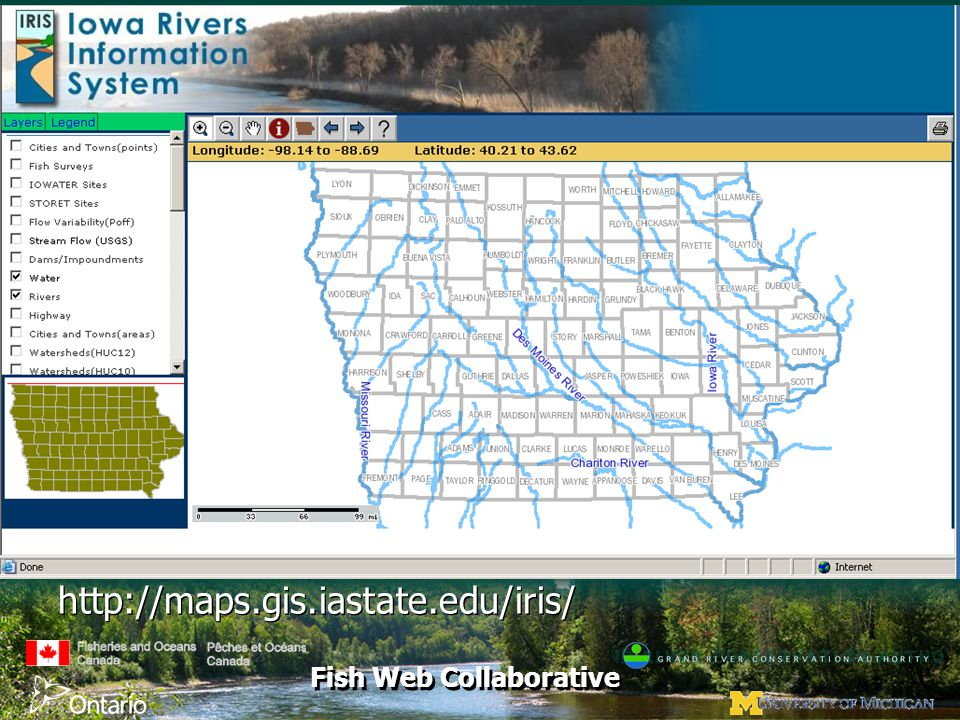 Fish Web Collaborative http://maps.gis.iastate.edu/iris/