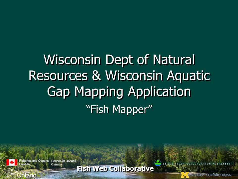 """Fish Web Collaborative Wisconsin Dept of Natural Resources & Wisconsin Aquatic Gap Mapping Application """"Fish Mapper"""""""