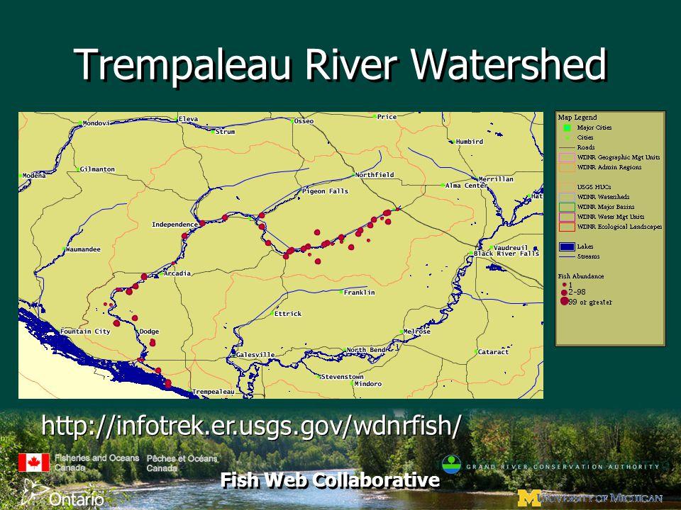 Fish Web Collaborative Trempaleau River Watershed http://infotrek.er.usgs.gov/wdnrfish/