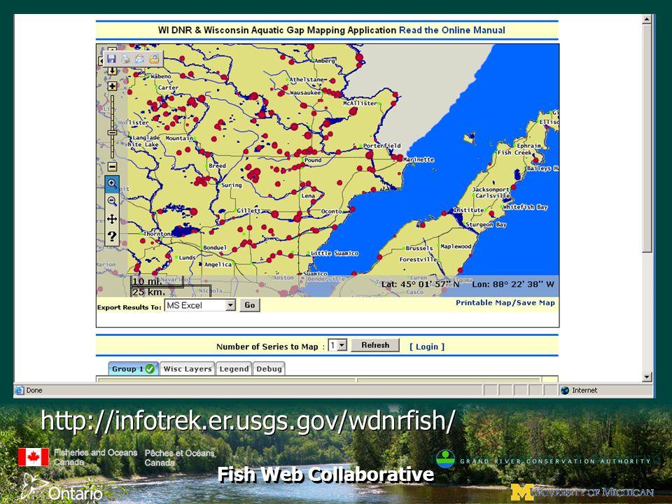 Fish Web Collaborative http://infotrek.er.usgs.gov/wdnrfish/