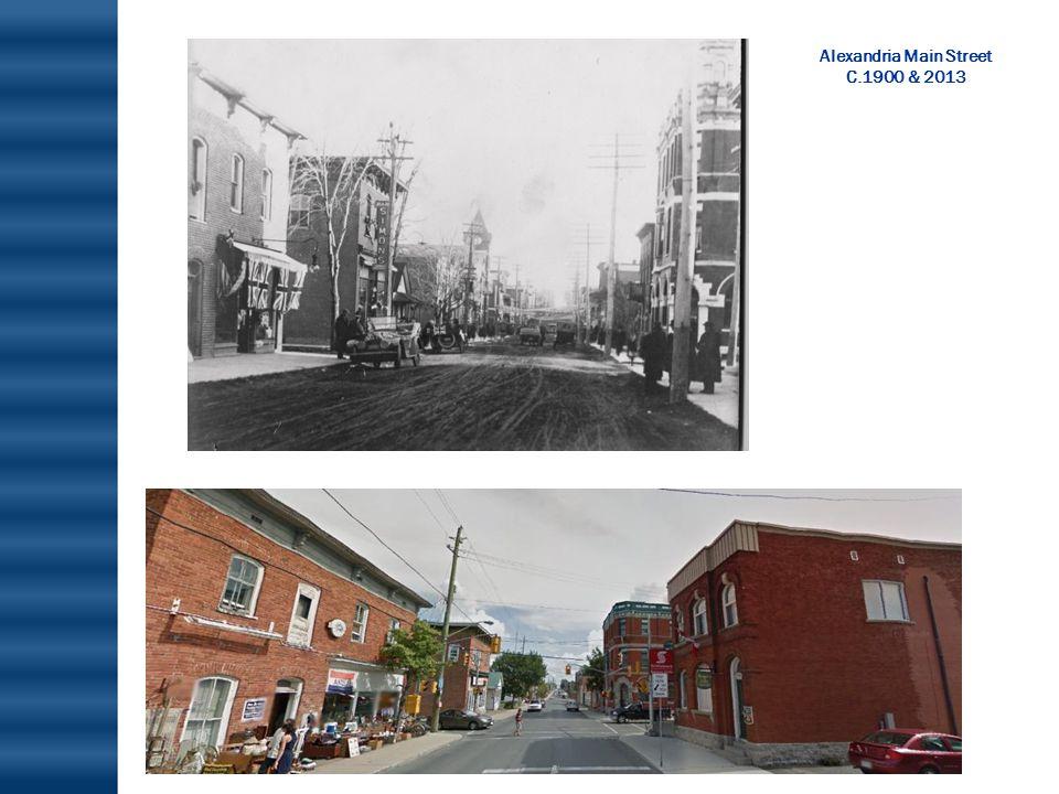 Alexandria Main Street C.1900 & 2013