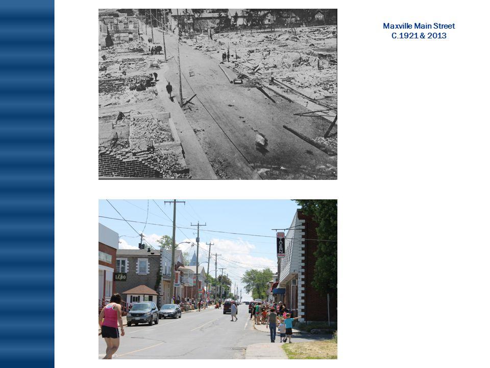 Maxville Main Street C.1921 & 2013