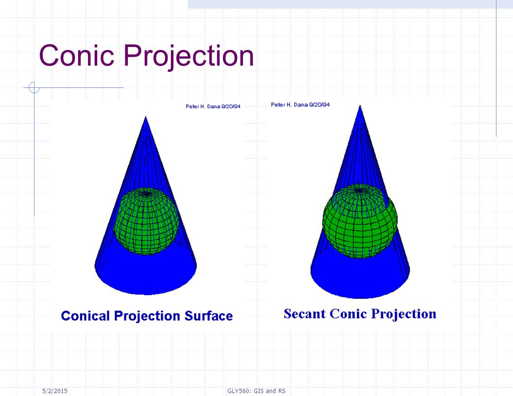 5/2/2015GLY560: GIS and RS Conic Projection