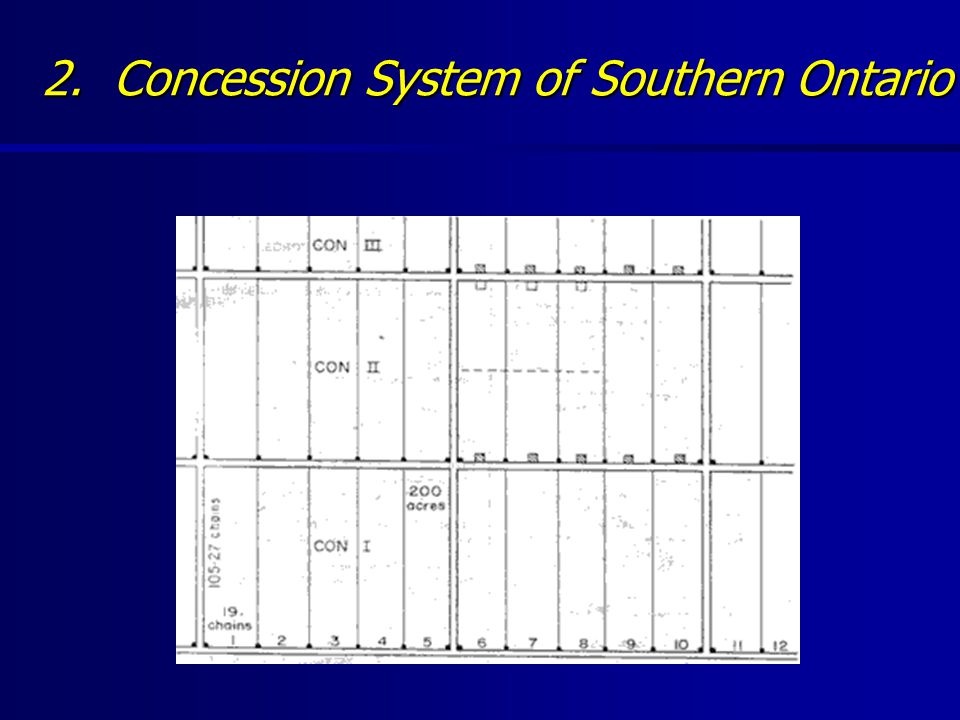 2. Concession System of Southern Ontario