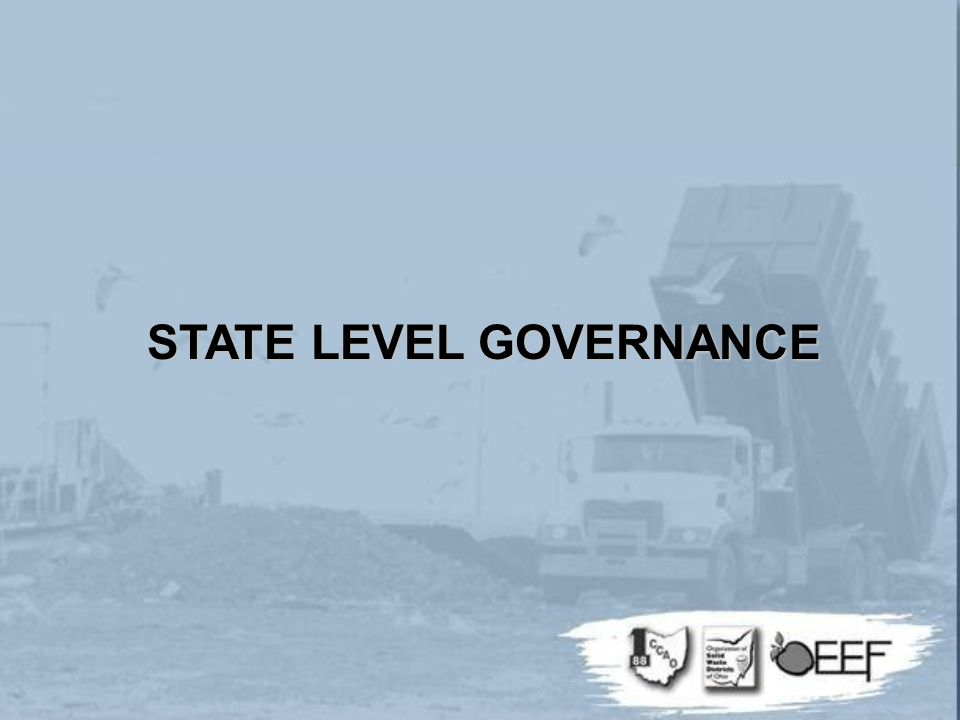 STATE LEVEL GOVERNANCE