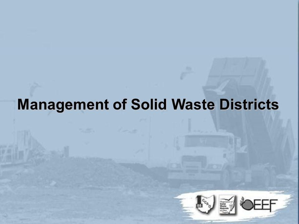 Management of Solid Waste Districts