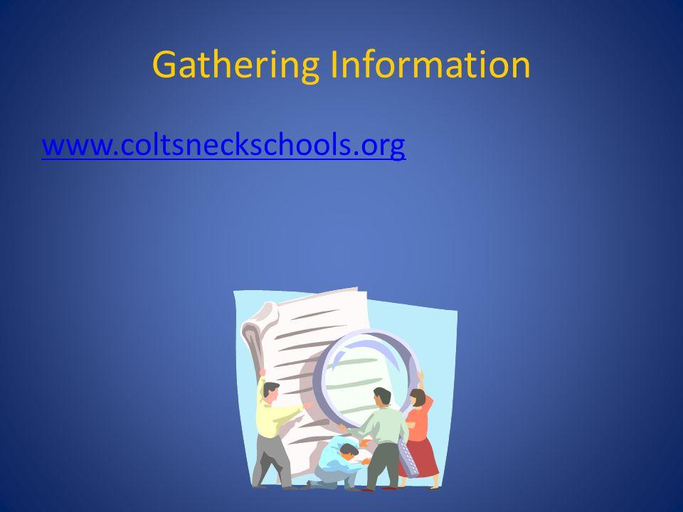 Gathering Information www.coltsneckschools.org
