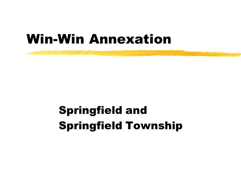 Win-Win Annexation Springfield and Springfield Township