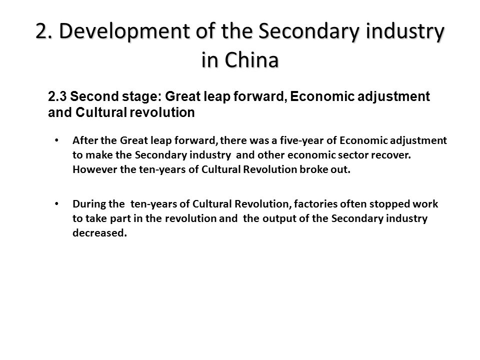 3.Cases discussion Beginning in the 1980s and well into the 1990s, the main source of economic dynamism in reform-era China came from the development of township and village enterprises.