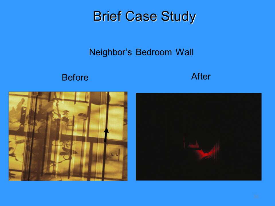 35 Before After Neighbor's Bedroom Wall Brief Case Study