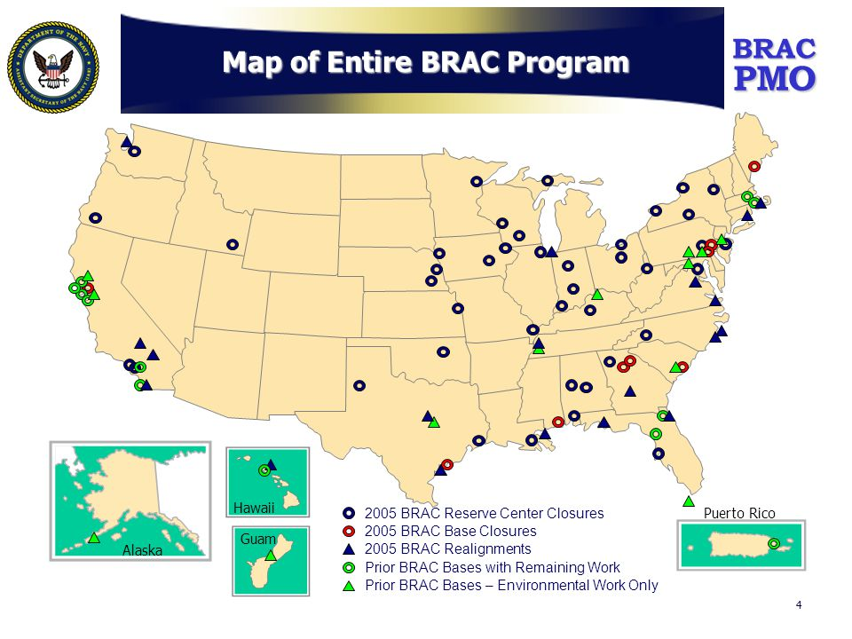 PMOBRAC 5 Prior BRAC Disposal Status (as of 30 Sep 06) Note: Figures include NS Roosevelt Roads (9,317 acres) which was added to the program in 2003.