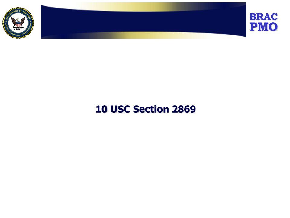 PMOBRAC 10 USC Section 2869