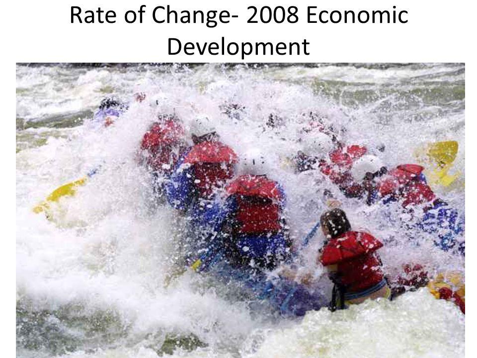 Rate of Change- 2008 Economic Development